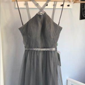 Renz Bridal Gray Tulle Dress 🖤